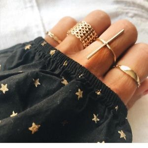 ❤️gorgeous 7pcs stackable gold rings